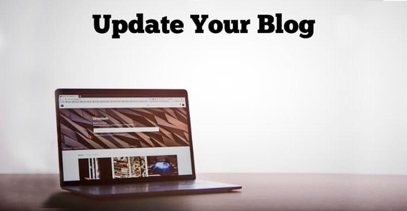 atualizar antigas publicações de blog